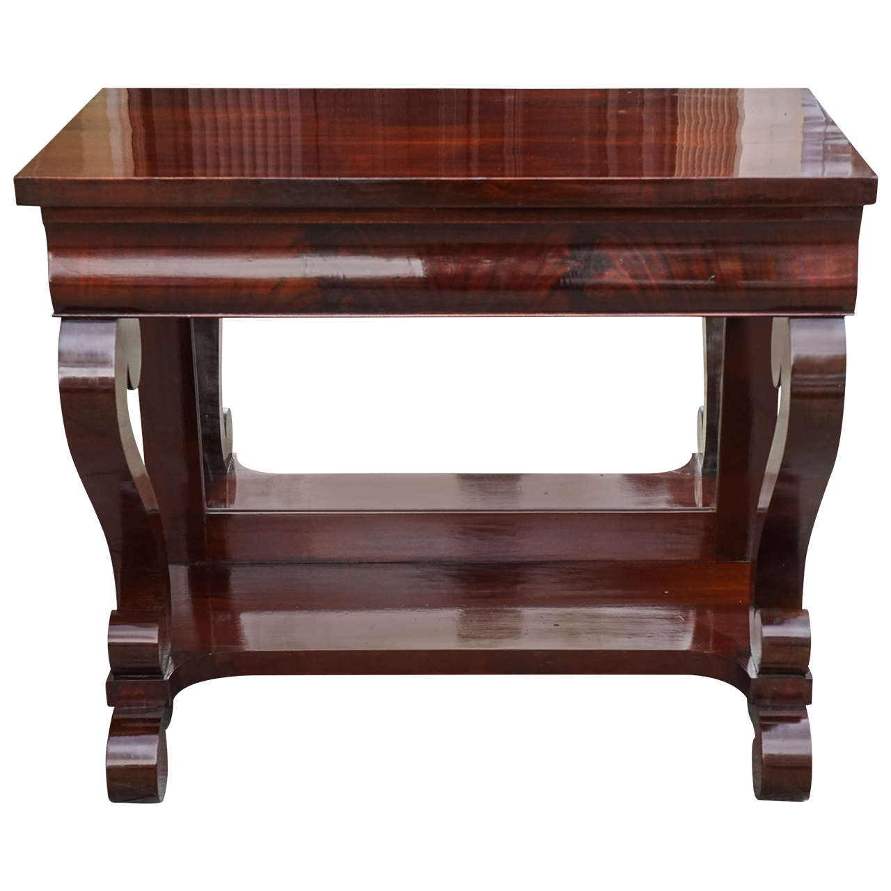 19th Century Mahogany American Empire Pier Table 1