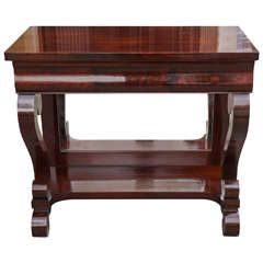 19th Century Mahogany American Empire Pier Table