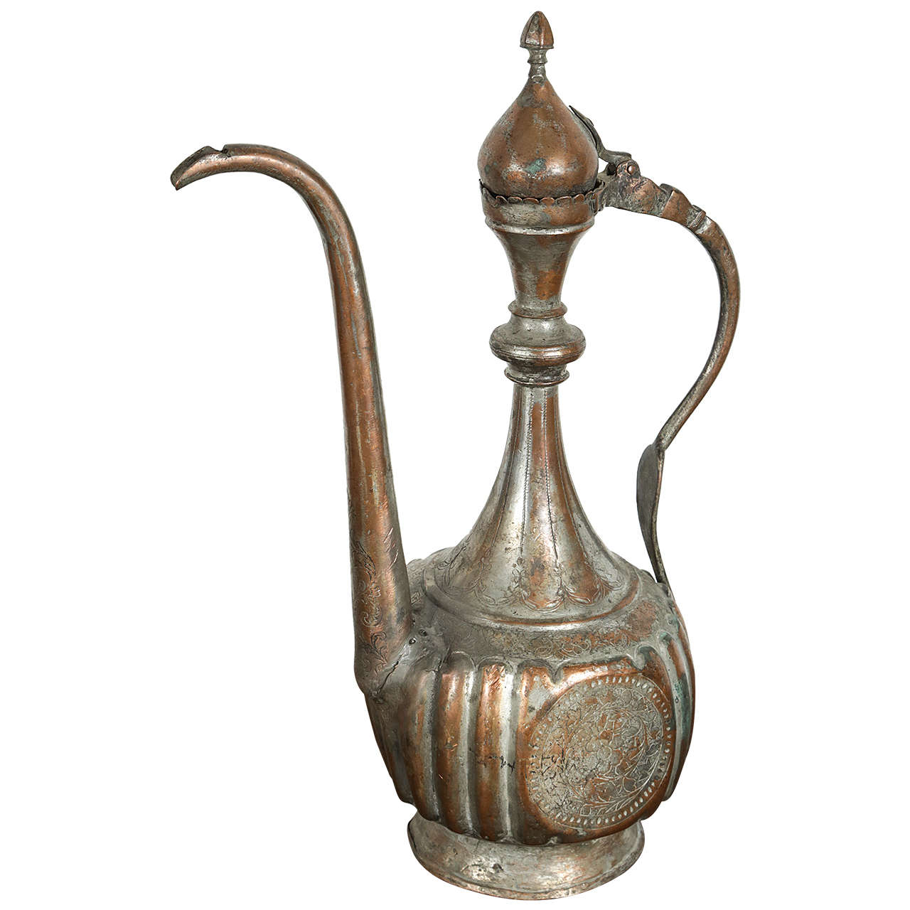 Antique 19th century middle eastern persian tinned copper ewer for antique 19th century middle eastern persian tinned copper ewer for sale reviewsmspy