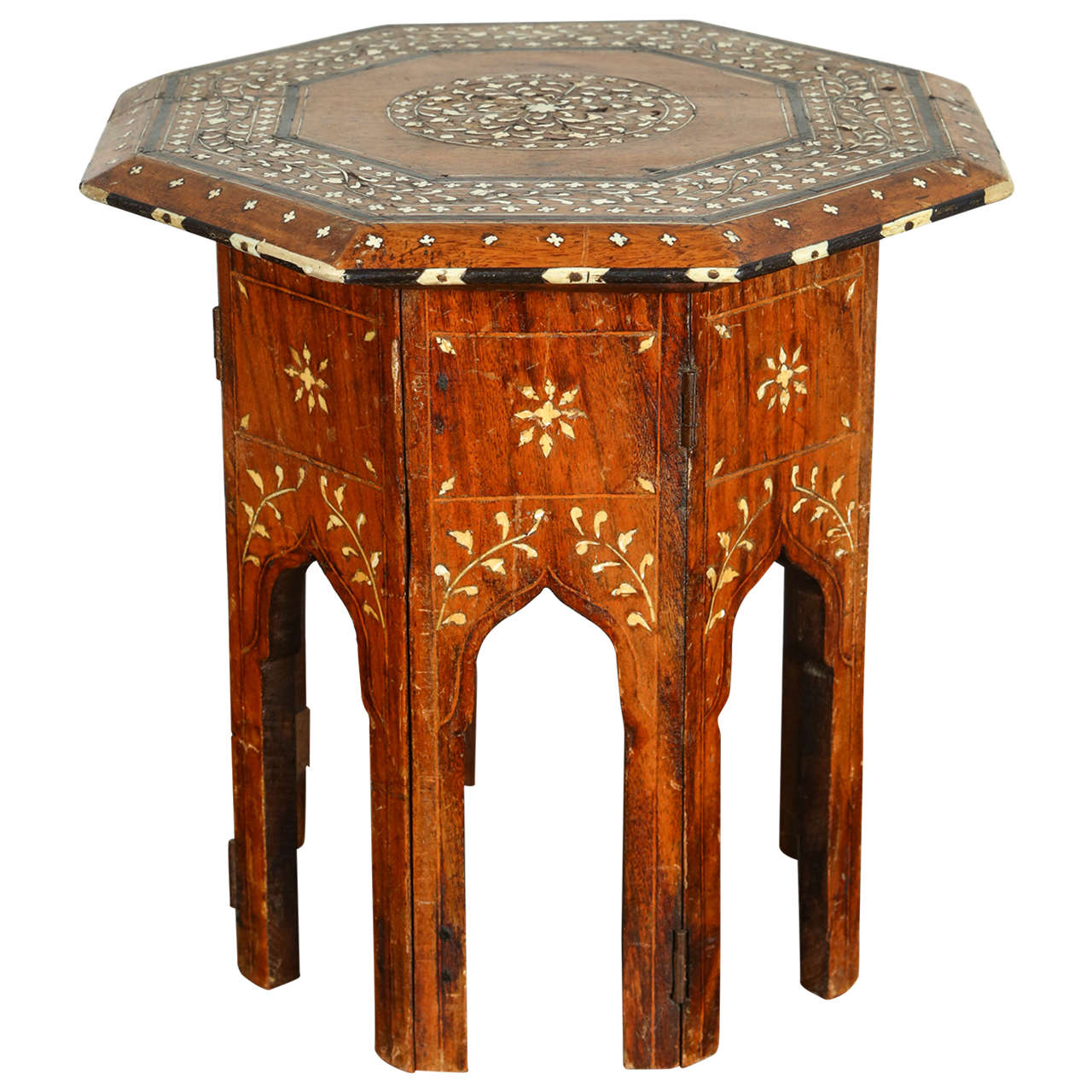 Octagonal Anglo Indian Side Tea Table 1