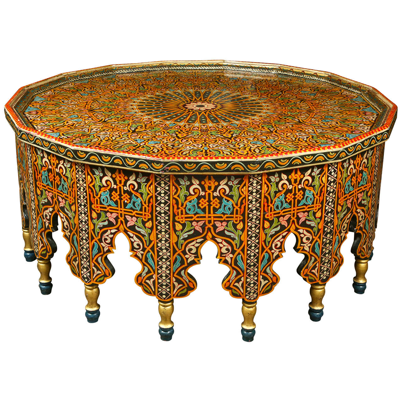 Fabulous moroccan coffee table at 1stdibs