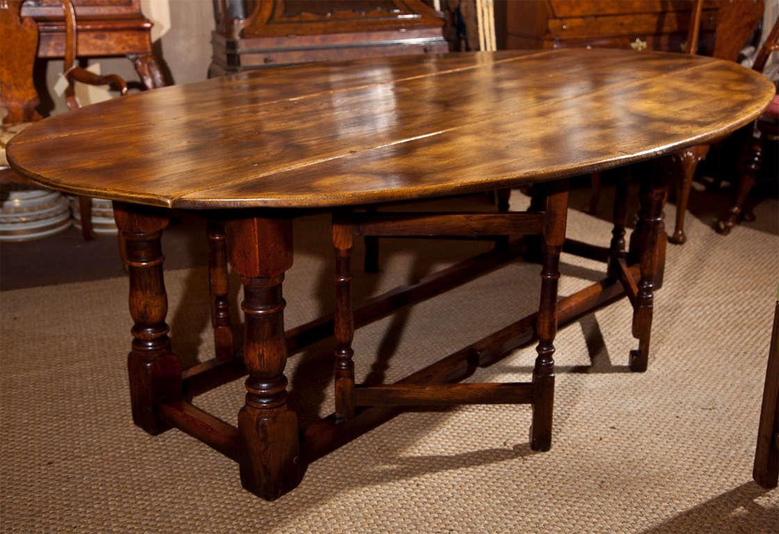 Large Drop Leaf Gate Leg Dining Table At 1stdibs