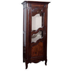 French Glazed Door Cabinet/Gun Case