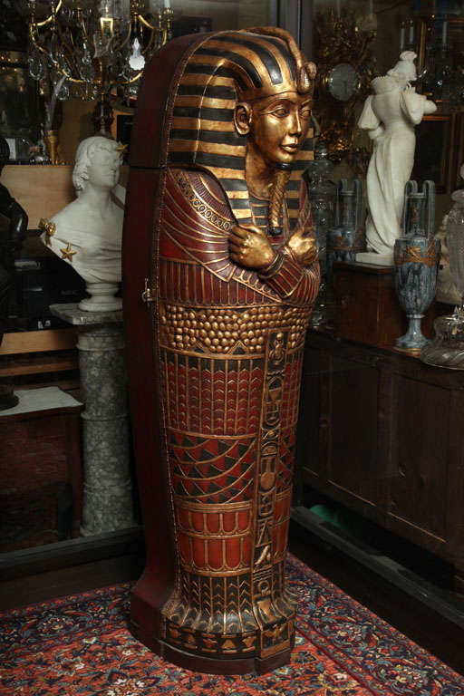 Life Size Painted Wood Replica Of King Tut S Sarcophagus