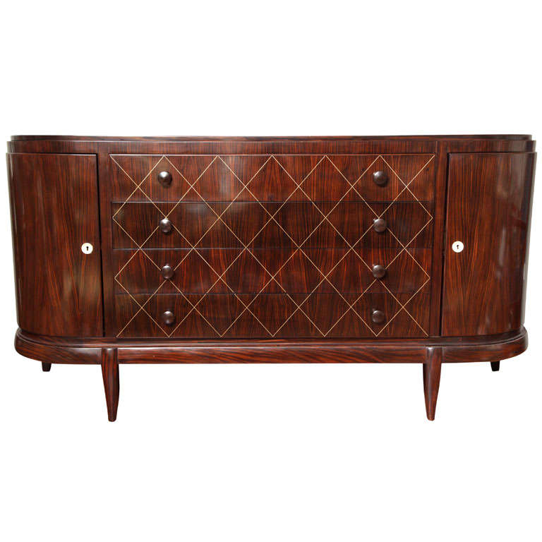 french art deco macassar ebony buffet 1