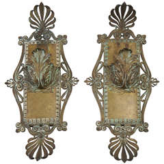 Bronze Neoclassical Beaux-Arts Wall Sconces, circa 1910