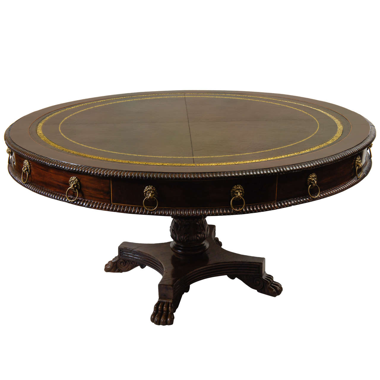 Important Large Anglo Colonial Library Table, Barbados, C. 1830 1