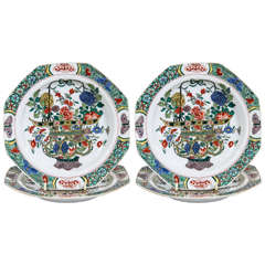 A Set of a Dozen Chinese Famille Verte Dishes