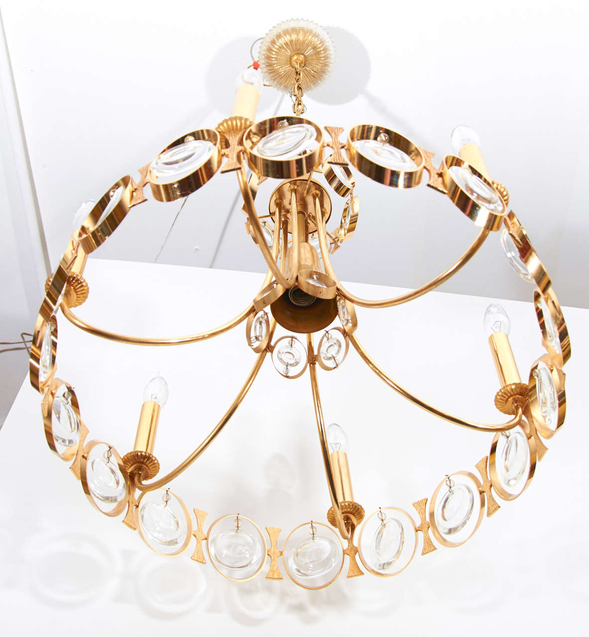 Gilt And Crystal Chandelier By Palwa For Sale At 1stdibs