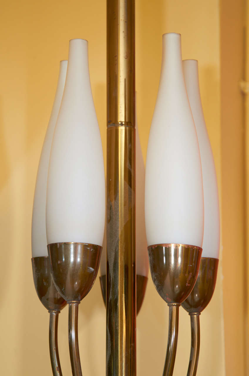 Italian Graceful Floor Lamp by Angelo Lelli for Arredoluce For Sale