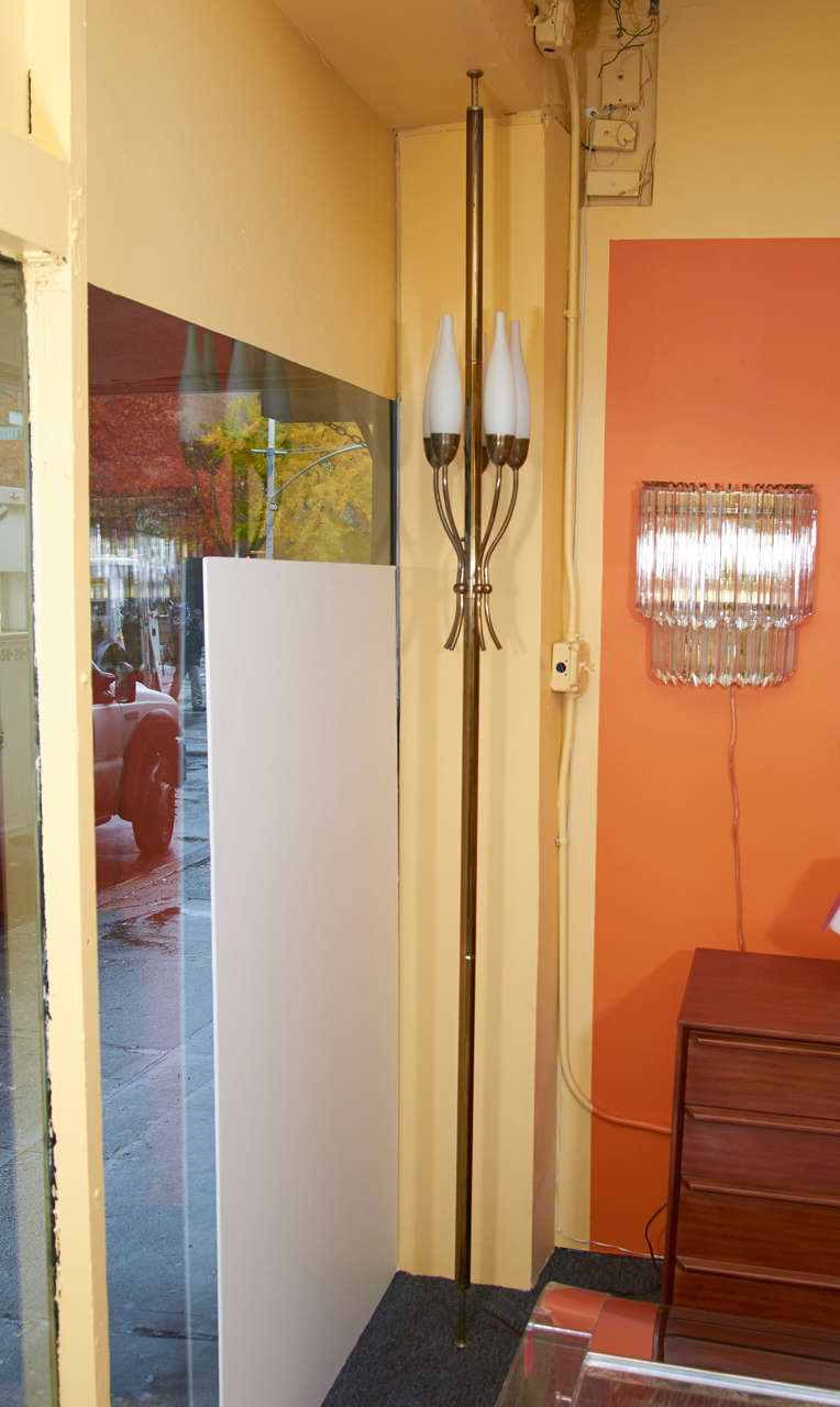 Graceful Floor Lamp by Angelo Lelli for Arredoluce In Good Condition For Sale In New York, NY