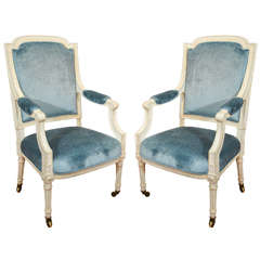 Set of Four Louis XVI Style Armchairs