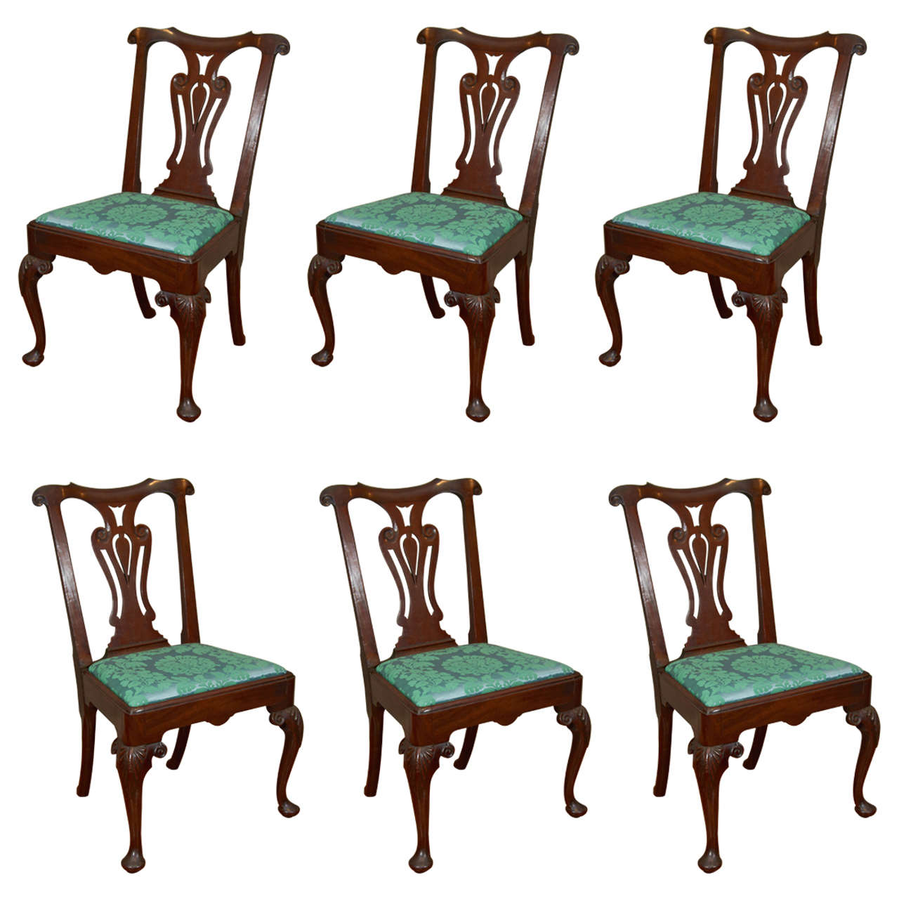 Miraculous Set Of Eight 19Th Century Mahogany Dining Chairs Ocoug Best Dining Table And Chair Ideas Images Ocougorg