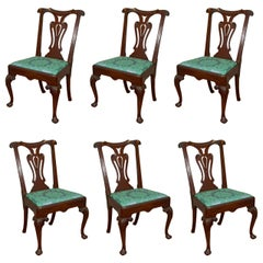 Set of Six Irish 18th Century Georgian Dining Chairs