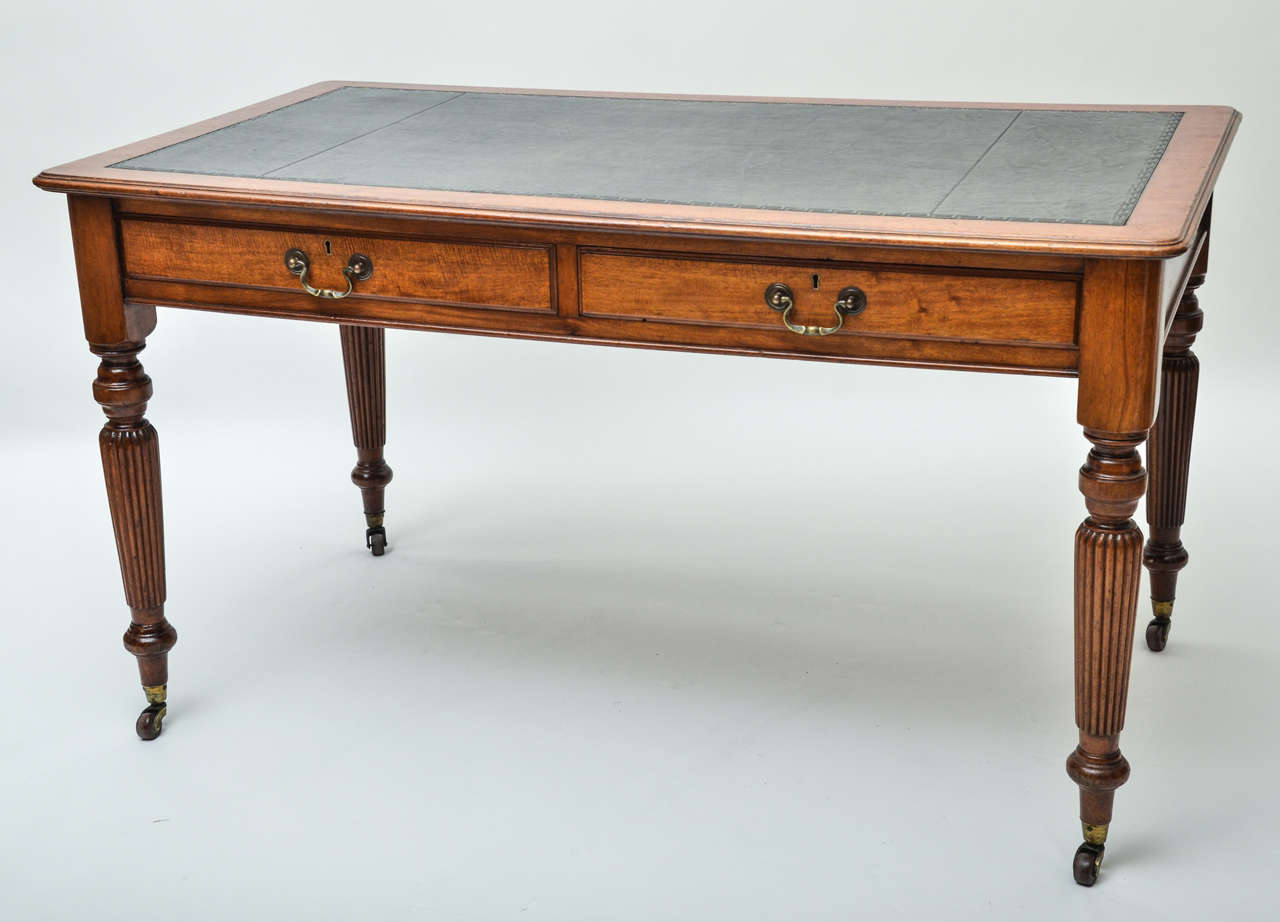 19th century 54 english mahogany writing table at 1stdibs for Table insert th