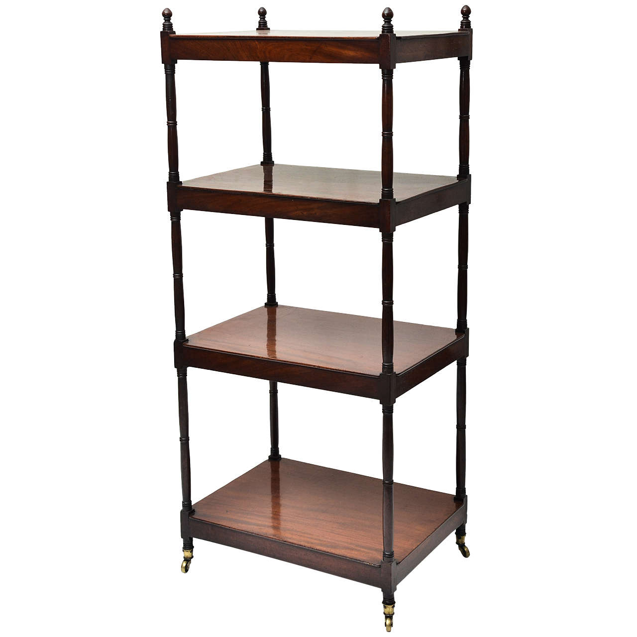 19th century four tier mahogany tag re at 1stdibs. Black Bedroom Furniture Sets. Home Design Ideas