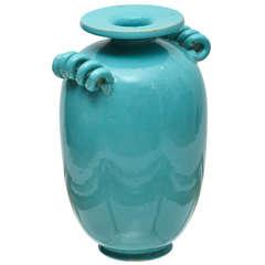 Mid-Century Modern Dutch Art Deco Pottery Vase by Geuren