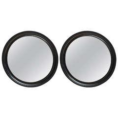 Pair of  19th Century English Ebonized Mirrors