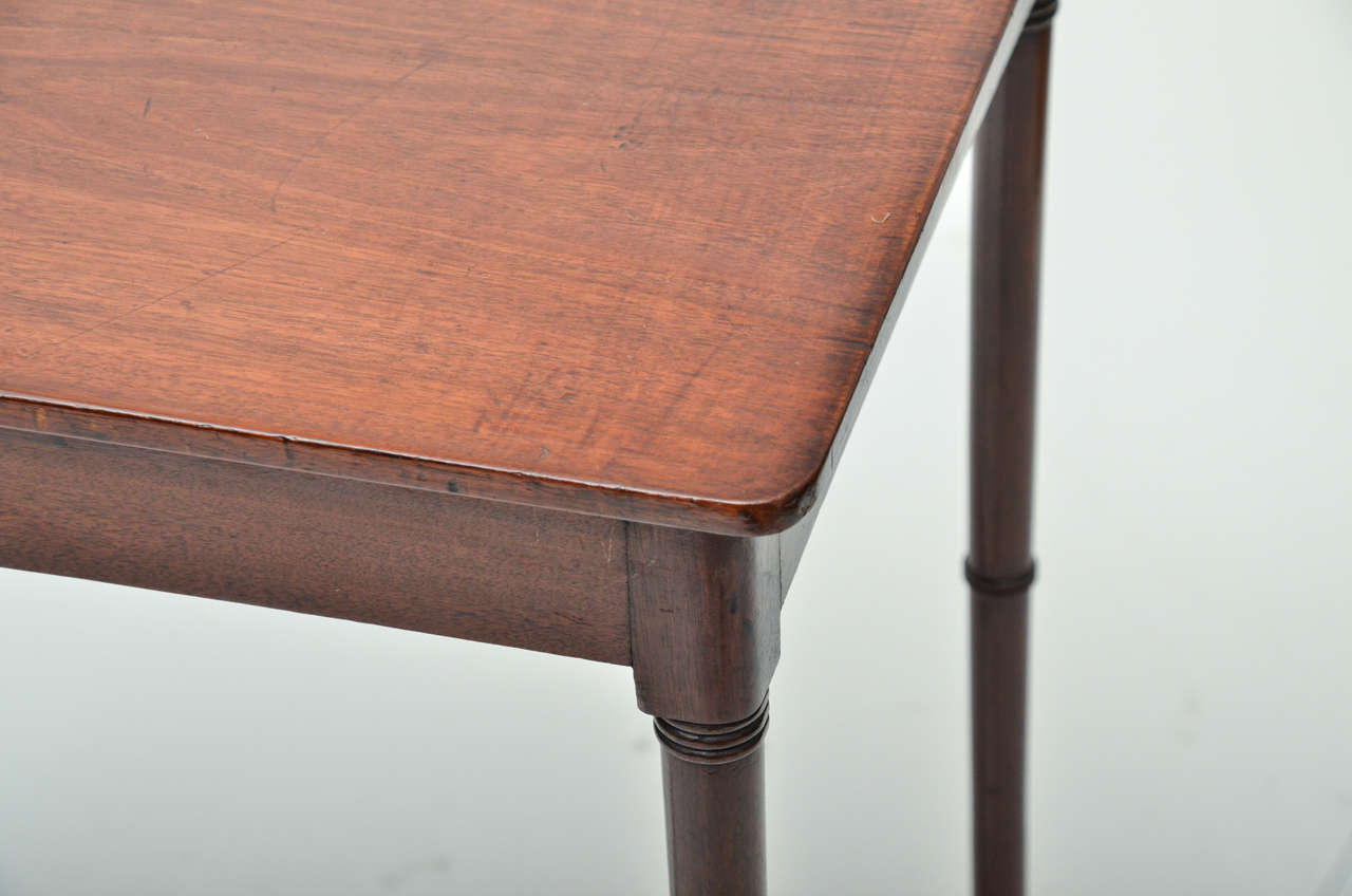 18th Century and Earlier 18th Century Mahogany Spider Leg Side Table For Sale