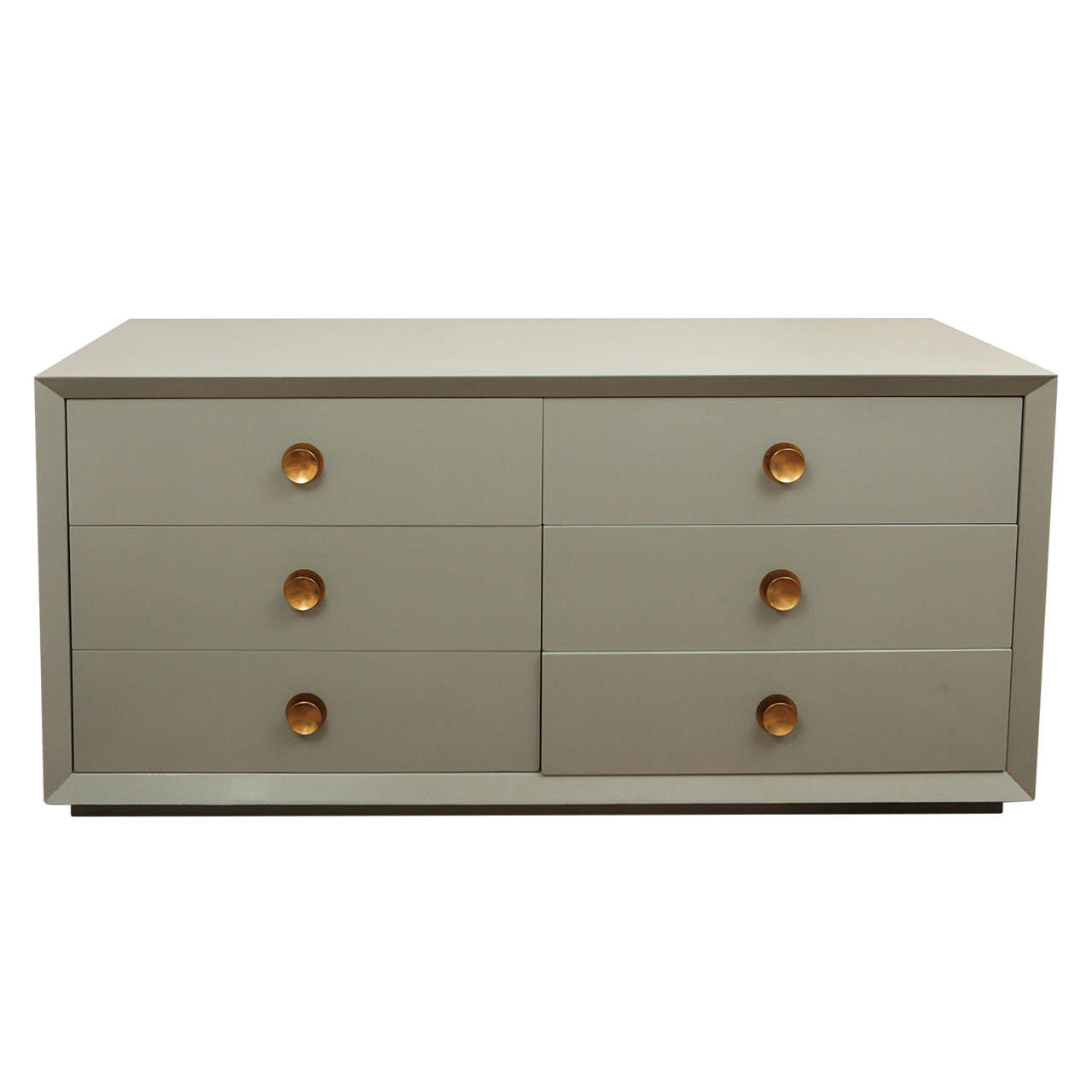 6 drawer lacquered chest at 1stdibs for 1 door 6 drawer chest