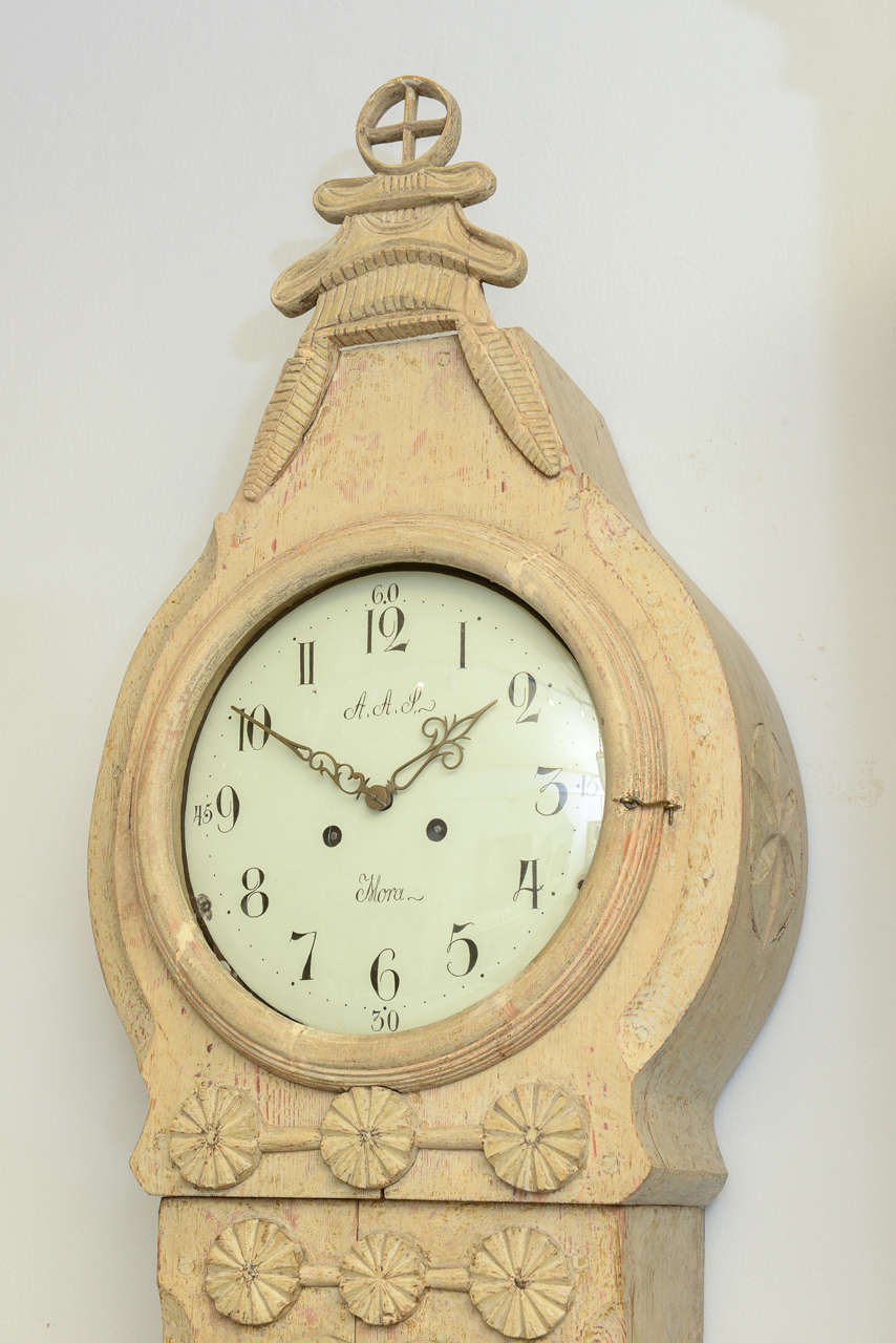 Gustavian Late 18th Century Swedish Period Extraordinary Collectible Mora Clock For Sale