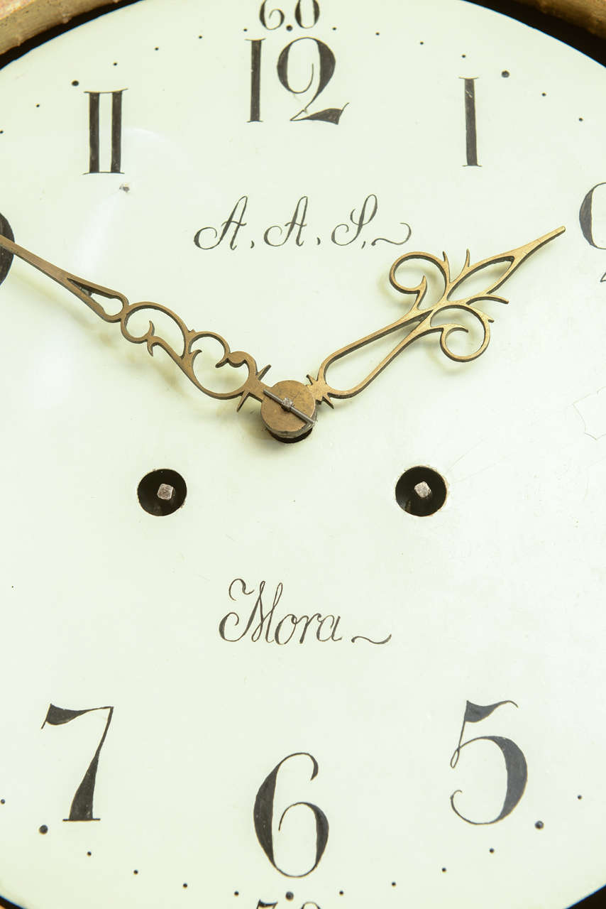 Late 18th Century Swedish Period Extraordinary Collectible Mora Clock For Sale 3