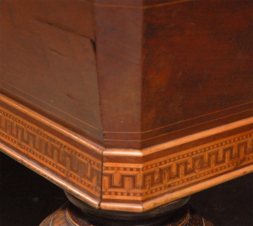 19th Century 1860s Italian Carom Mahogany Billiard Table with Inlay For Sale