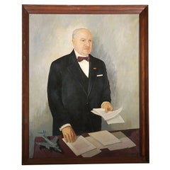 1956 French Minister Painting