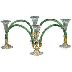 1930s Murano Glass Articulating Centerpiece Attributed to Venini
