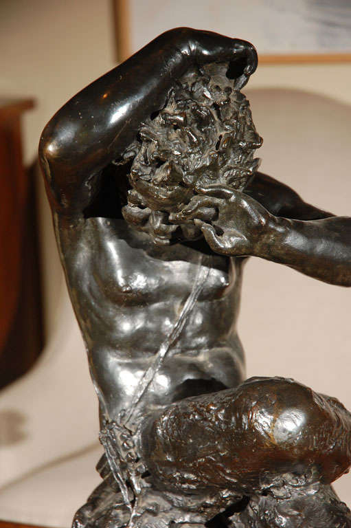 Cast Early 19th c., Bronze Satyr Sculpture For Sale