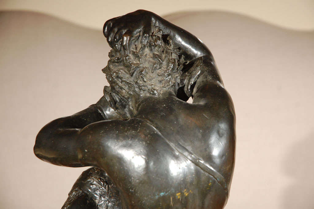 Early 19th c., Bronze Satyr Sculpture For Sale 1