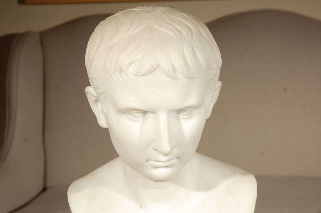 19th Century Bust of Napoleon In Excellent Condition For Sale In Newport Beach, CA