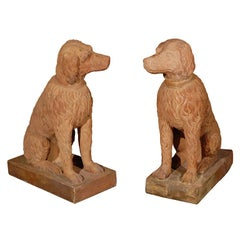 Life Size, 19th Century, Terracotta Poodles