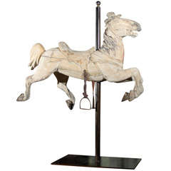 20th Century American Carved Wooden Carousel Horse