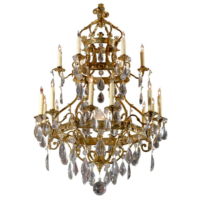 Fine 19th Century Italianate Crystal Chandelier At 1stdibs