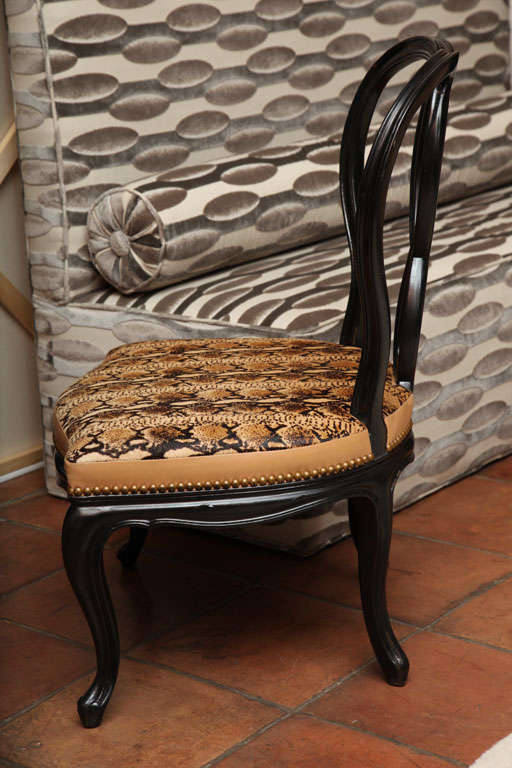 Vanity Victorian Chair Updated In Python Snake Textile At