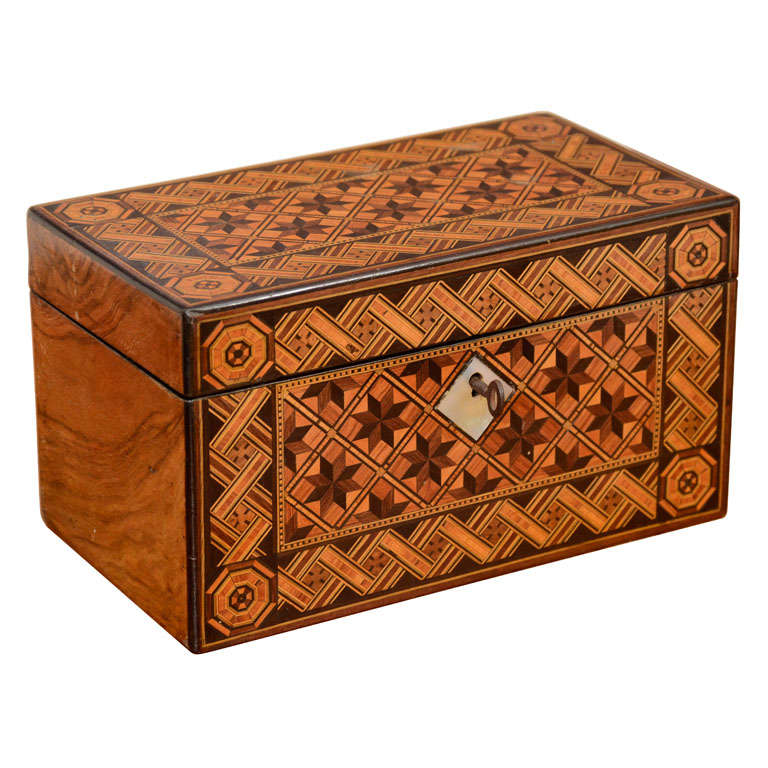 English Victorian Parquetry Box At 1stdibs
