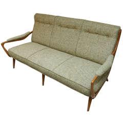 1940's Italian Sycamore Sofa