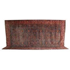 Persian Fereghan Carpet in Handspun Wool and Vegetable Dyes, circa 1870