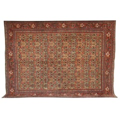 Persian Sultanabad Carpet in Handspun Wool and Vegetable Dyes, circa 1880