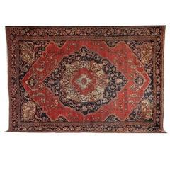 Persian Fereghan Carpet circa 1880 in Handspun Wool and Vegetable Dyes