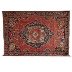Persian Fereghan Carpet circa 1880 in Handspun Wool and Vegetable Dyes