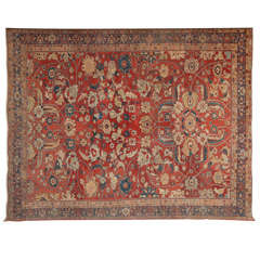 Persian Sultanabad Carpet circa 1870 in Handspun Wool and Vegetable Dyes