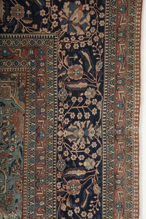 20th Century Persian Kashan Mohtasham Carpet, circa 1870 For Sale