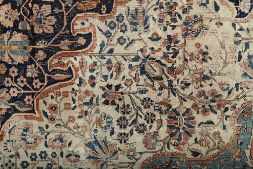 Wool Persian Kashan Mohtasham Carpet, circa 1870 For Sale