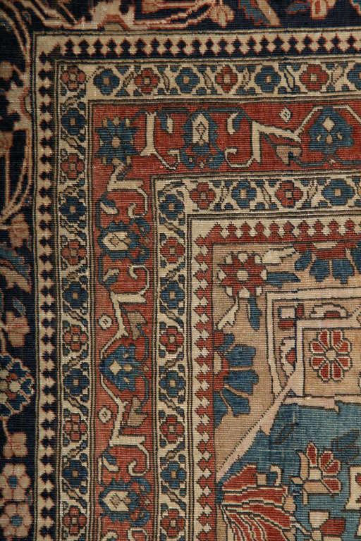 Persian Kashan Mohtasham Carpet, circa 1870 For Sale 2
