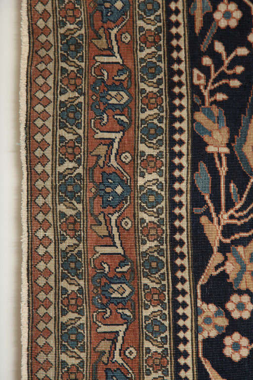 Persian Kashan Mohtasham Carpet, circa 1870 For Sale 3