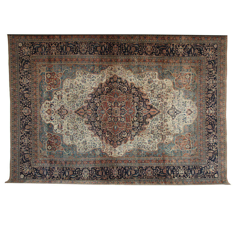 Persian Kashan Mohtasham Carpet, circa 1870 For Sale