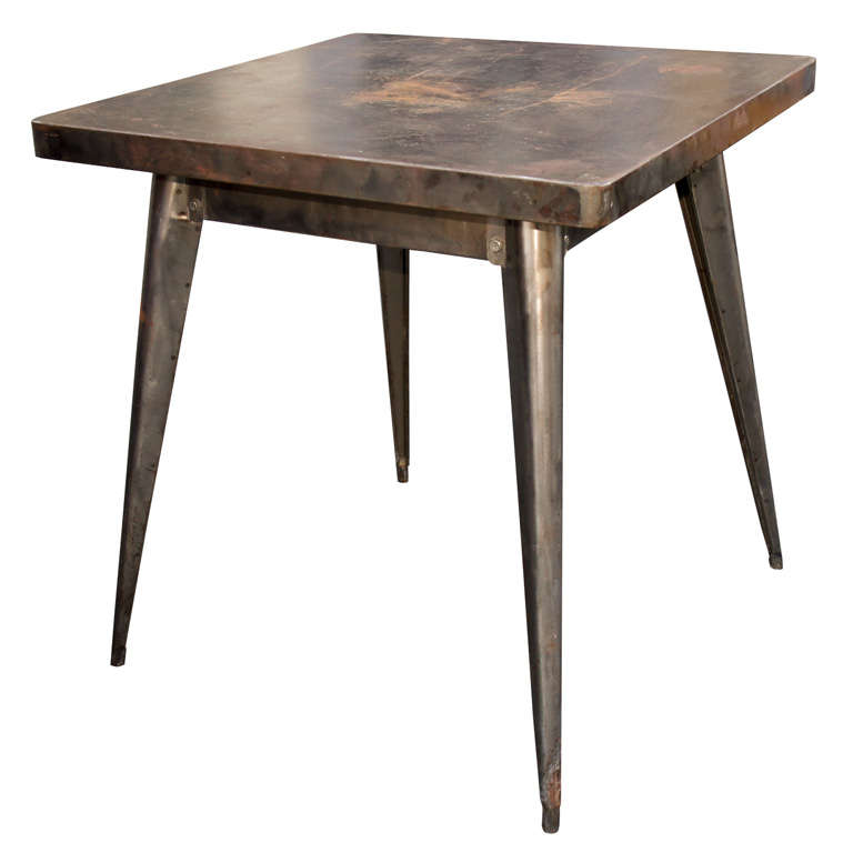 tolix table industrial french bistro table c 1957 at 1stdibs. Black Bedroom Furniture Sets. Home Design Ideas