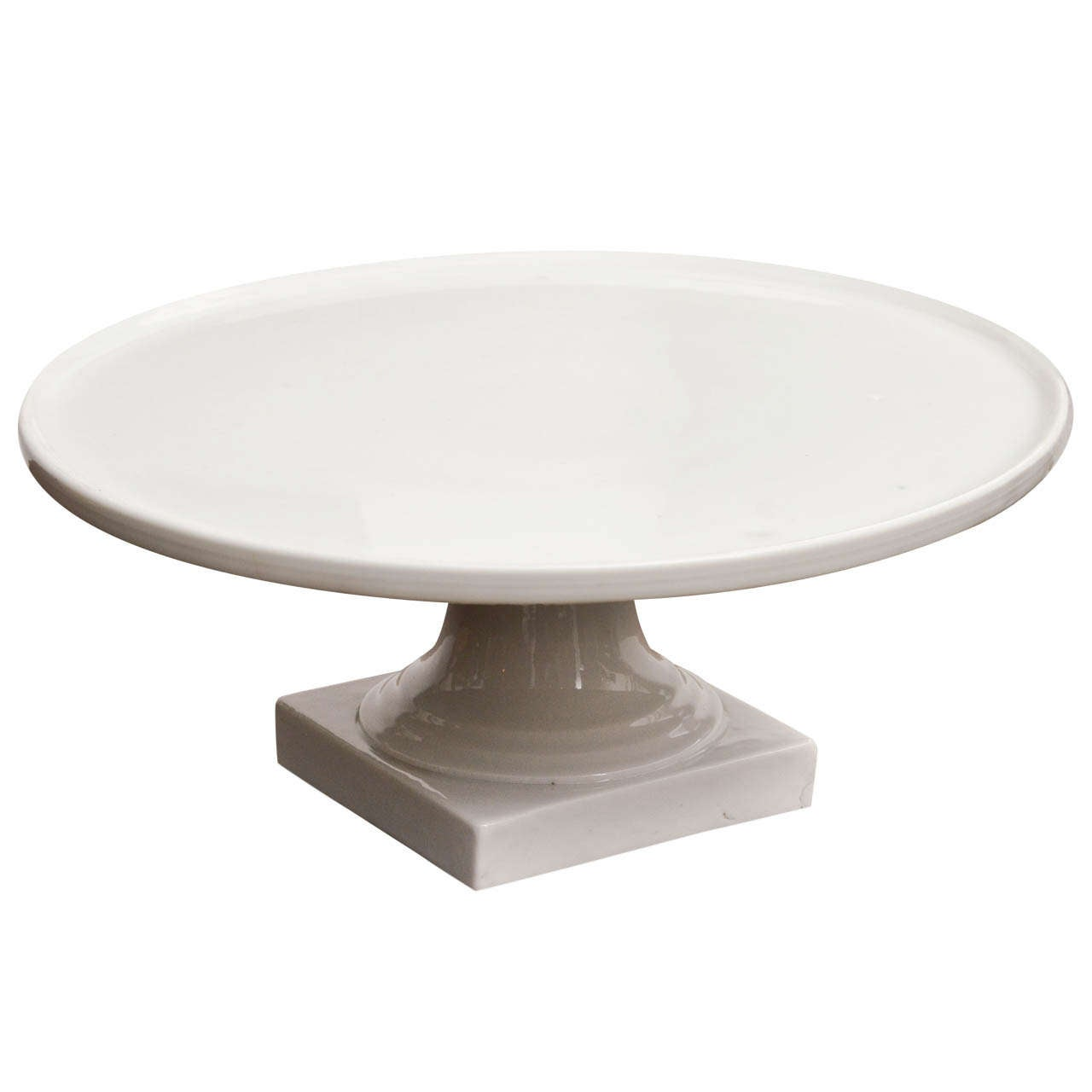 19th Century Glazed Pottery Cake Stand at 1stdibs